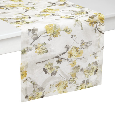 Boerne Mustard Stain-Resistant Table Linens | Gracious Style