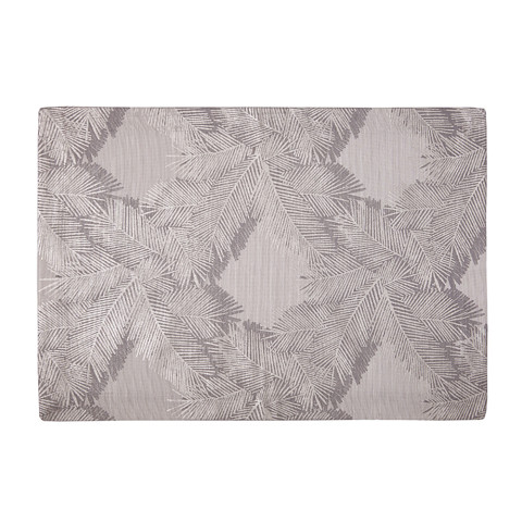 Botanica 14 x 20 in Placemats Pewter Foil Print, Set of Four | Gracious Style
