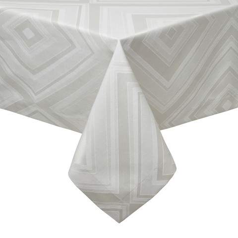 Brussels Taupe Stain-Resistant Damask Table Linens | Gracious Style