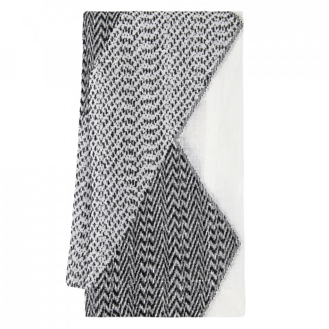 Chelsea Runner 16 x 128 in Black and White | Gracious Style