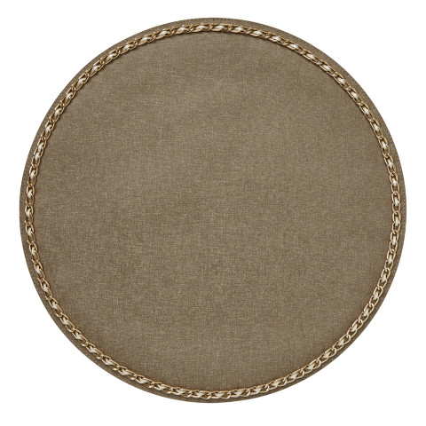 Coco Placemats Bronze 15 in round, Set of Four | Gracious Style
