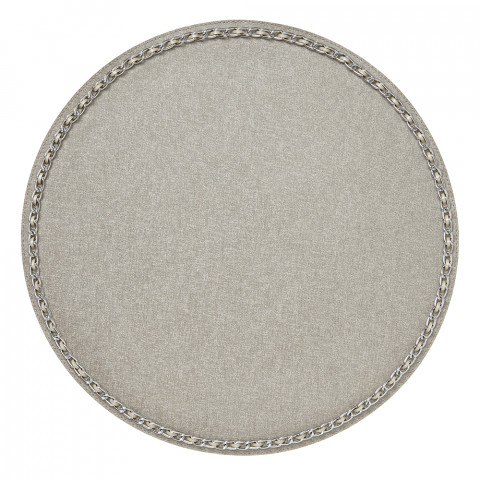 Coco Placemats Latte 15 in round, Set of Four | Gracious Style