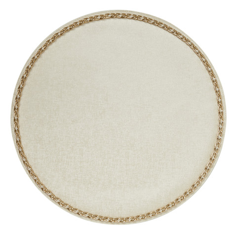 Coco Placemats Pearl 15 in round, Set of Four | Gracious Style