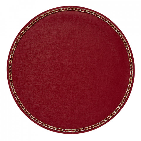 Coco Placemats Red 15 in round, Set of Four | Gracious Style