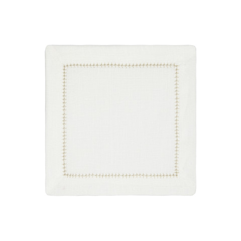 Dolce Cocktail Napkins Beige 6 x 6 in, Set of Four | Gracious Style