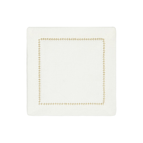 Dolce Cocktail Napkins Gold 6 x 6 in, Set of Four | Gracious Style