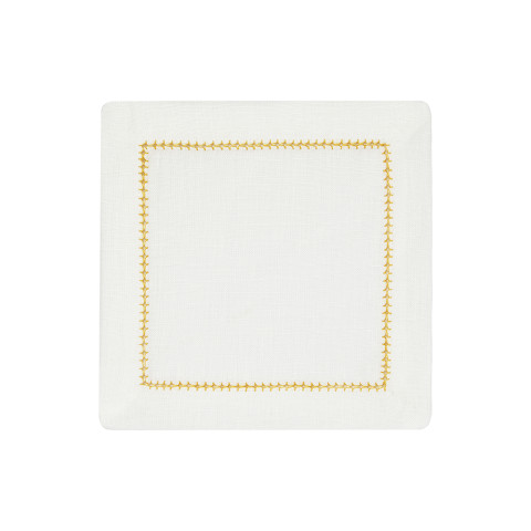 Dolce Cocktail Napkins Orange 6 x 6 in, Set of Four | Gracious Style