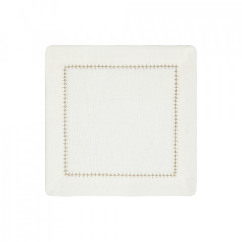Dolce Cocktail Napkins Rose Gold 6 x 6 in, Set of Four | Gracious Style