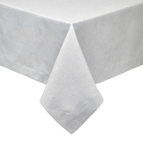 Essex Tablecloth 70 x 162 in Taupe Silver Metallic | Gracious Style
