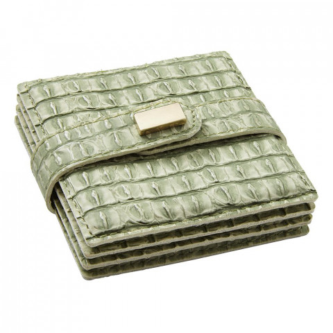Everglades Coasters Green, Set of Four | Gracious Style