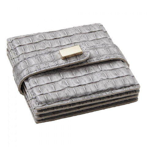 Everglades Coasters Light Gray, Set of Four | Gracious Style
