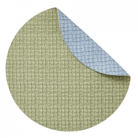 Everglades Placemats Reversible Round Baby Blue-Green, Set of Four | Gracious Style