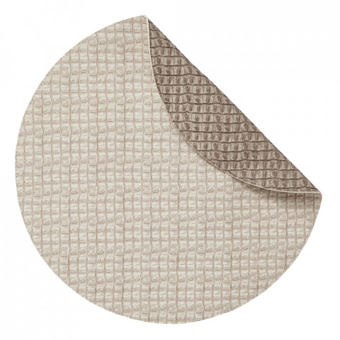 Everglades Placemats Reversible Round Beige and Light Beige, Set of Four | Gracious Style
