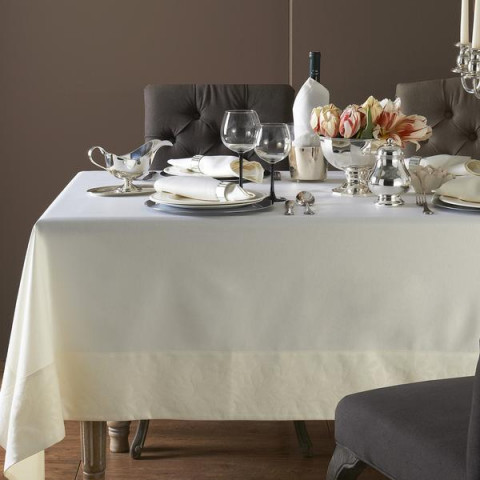 Geneva Stain-Resistant Damask Table Linens | Gracious Style