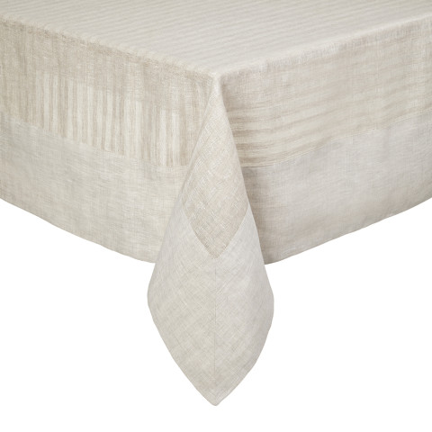 Greenwich Tablecloth 70 x 70 in Beige   Gracious Style