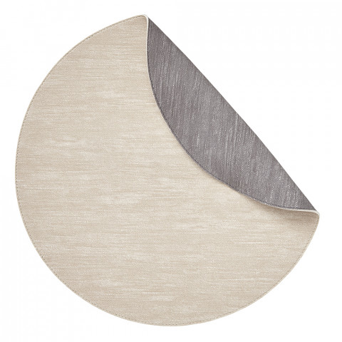 Jeanne Placemats Reversible Round Beige/Gray, Set of Four | Gracious Style