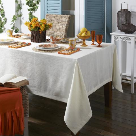 Lisbon Stain-Resistant White Table Linens   Gracious Style