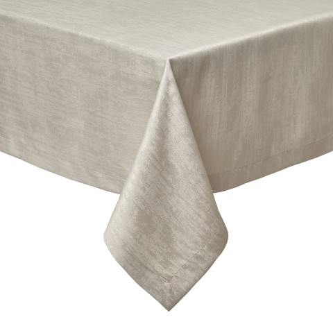 Lisbon Tablecloth 70 in Round Taupe | Gracious Style