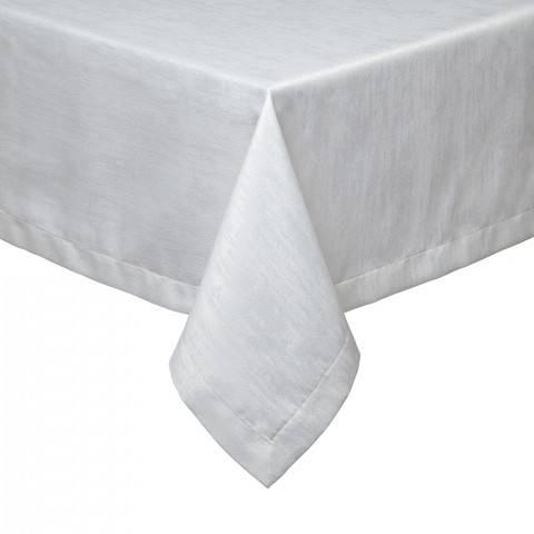 Lisbon Tablecloth 66 x 128 in White | Gracious Style