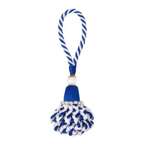 Marbella Napkin Rings Blue/White, Set of Four | Gracious Style