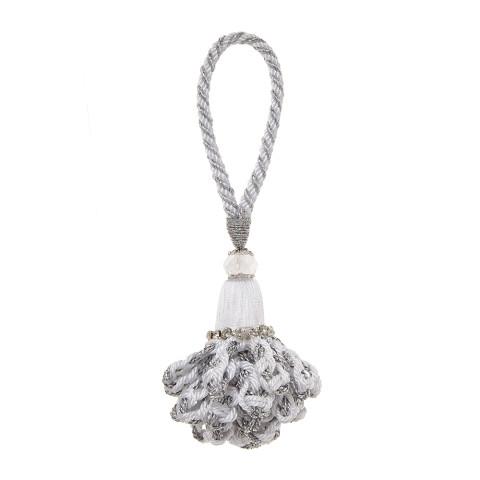 Marbella Napkin Rings Gray/White, Set of Four | Gracious Style