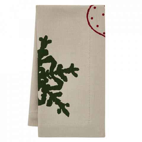 Noelle 20 x 20 in Napkins Beige with Print, Set of Four | Gracious Style