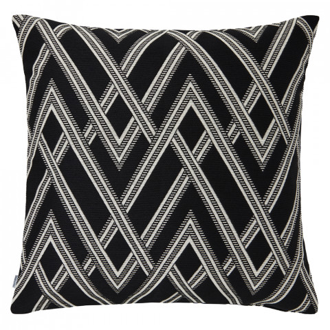 Ombre 068 Pillow 22 x 22 in Square Black and White | Gracious Style