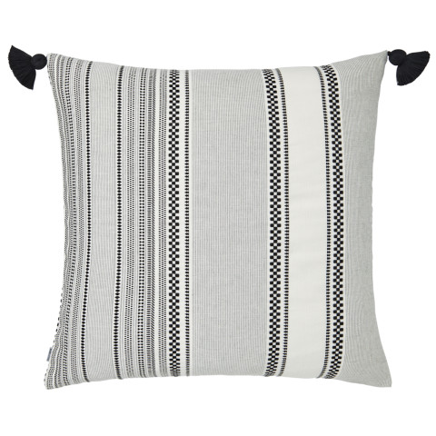 Ombre 069 Pillow 22 x 22 in Square Black and White | Gracious Style