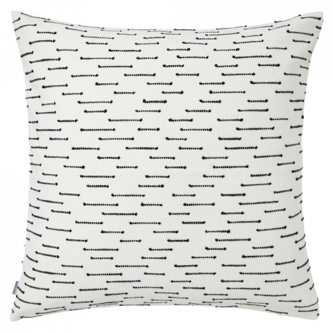 Ombre 070 Pillow 22 x 22 in Square Black and White   Gracious Style
