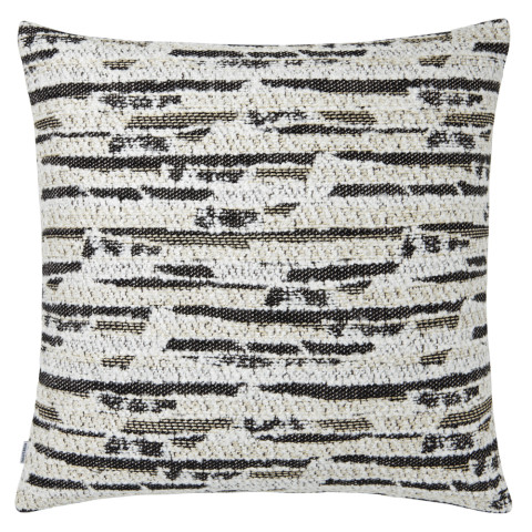 Ombre 071 Pillow 22 x 22 in Square Black and White | Gracious Style