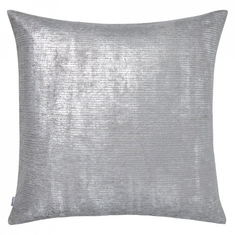 Terra 051 Pillow 22 x 22 in Square Blue Metallic Gray | Gracious Style