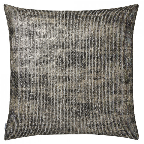 Terra 052 Pillow 22 x 22 in Square Black and Beige Metallic | Gracious Style