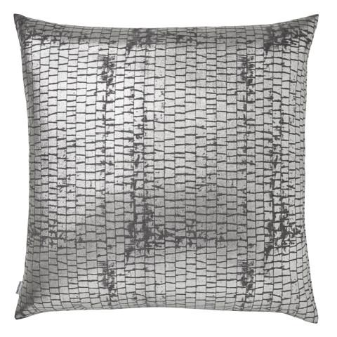 Terra 053-1 Pillow 22 x 22 in Square Gray Metallic | Gracious Style
