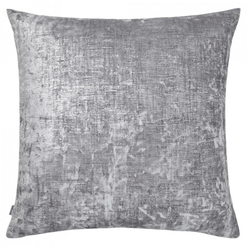 Terra 054 Pillow 22 x 22 in Square Light Gray and Gold Metallic   Gracious Style