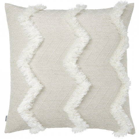 Terra 065-1 Pillow 22 x 22 in Square Beige and White | Gracious Style