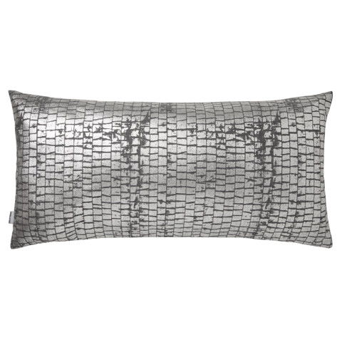 Terra 053-2 Pillow 12 x 24 in Gray Metallic | Gracious Style