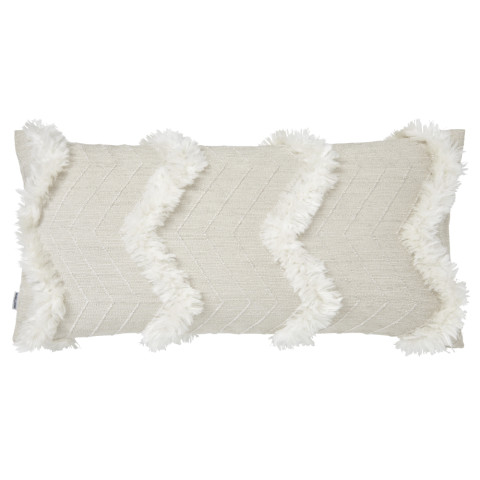 Terra 065-2 Pillow 12 x 24 in Beige and White   Gracious Style