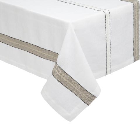 Puglia Beige/white Table Linens | Gracious Style