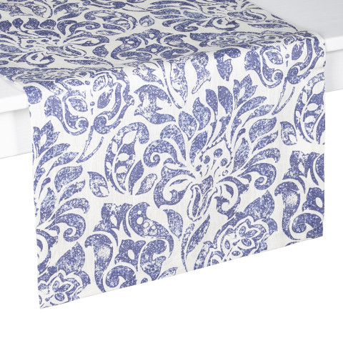 Santorini Runner 16 x 70 in Blue and White | Gracious Style
