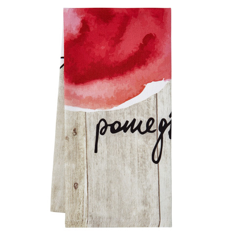 Fruit Basket Tea Towels Pomegranate 20 x 28 in | Gracious Style