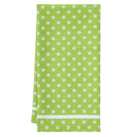 Polka Dot Tea Towels Green 20 x 28 in | Gracious Style