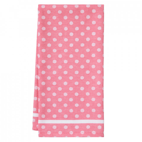 Polka Dot Tea Towels Pink 20 x 28 in | Gracious Style