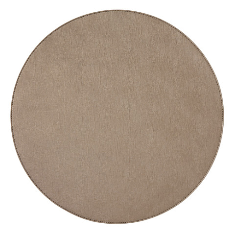 Valentina Round Placemats Bronze, Set of Four | Gracious Style