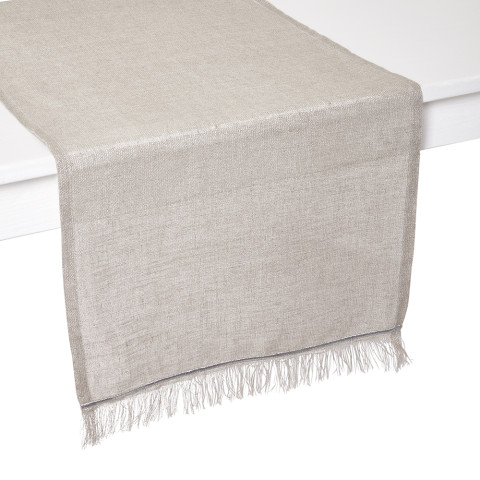 Venice Silver Stain-Resistant Print Table Linens   Gracious Style