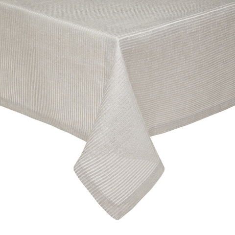 Verona Striped Stain-Resistant Easy Care Table Linens | Gracious Style