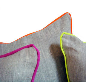Neon Piper Linen Throw Pillows by Christen Maxwell | Gracious Style}