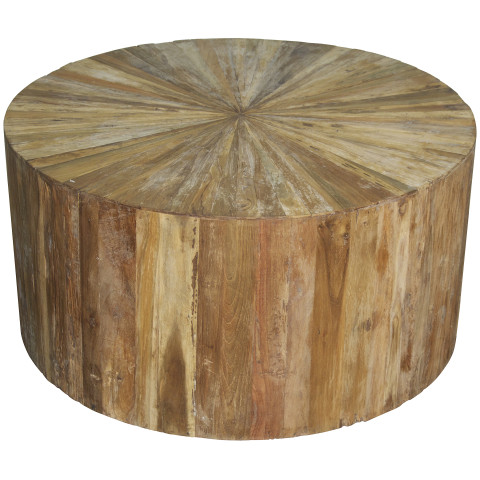 Teak Wood Round Coffee Table | Gracious Style