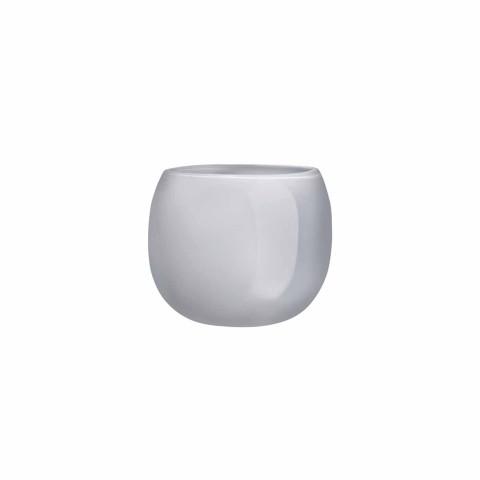 Mono Box Opal Grey Vase Small   Gracious Style