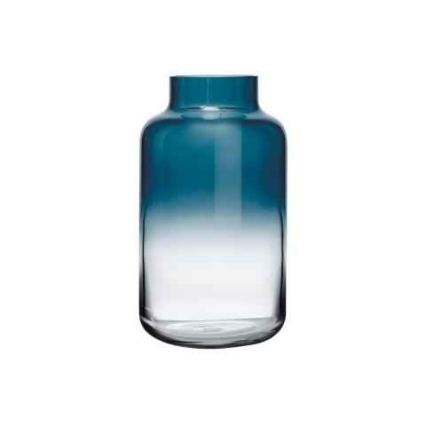 Magnolia Blue Top, Clear Bottom Vase Medium | Gracious Style