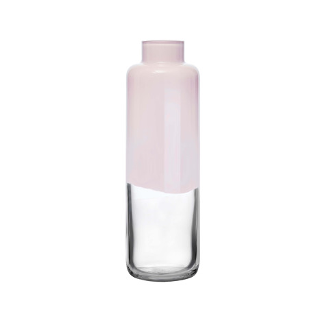 Magnolia Opal Pink Top, Clear Bottom Vase Small | Gracious Style
